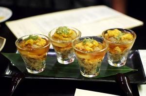 Kinjiro: Uni, Scallop, Blue Crab with Ponzu Jelly