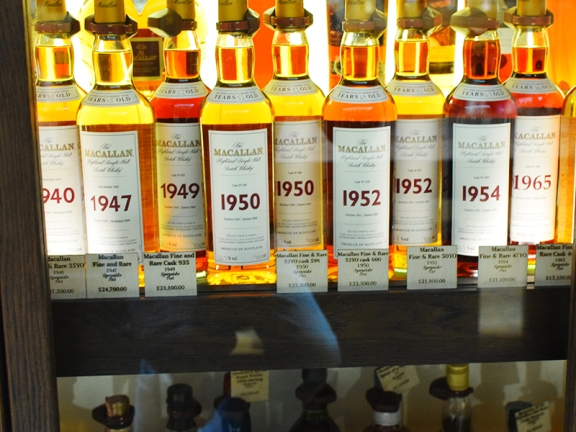 Some of the Macallans in that section---note the prices.