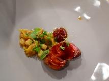 Piccolo: Lamb with merguez-stuffed agnolotti, sweet harissa, and charred kohlrabi