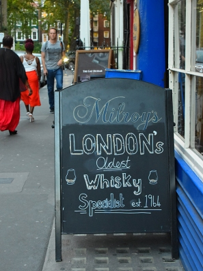 "They proclaim themselves ""London's oldest whisky specialist""."