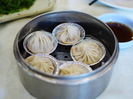 The regulation mini-soup dumplings that all the dim sum places carry. Decent but this genre is never satisfying and we should probably stop ordering them.