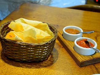 Trishna: Papad and Chutneys