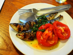 St. John Bread and Wine: Grilled Sardines