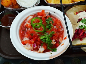 Sandcastle: Shrimp and Octopus Ceviche