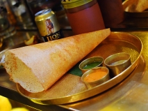 Bootleg shot of my neighbour's dosa, which looked completely legit.