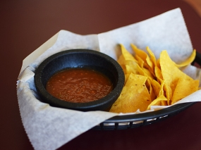 Homi: Chips with Red Salsa