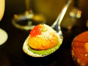 Tongue in Cheek: Bacon and Egg, fried egg, avocado, hot jam