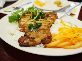 The grilled chicken and pork over broken rice are likewise always decent and surefire winners with our boys.