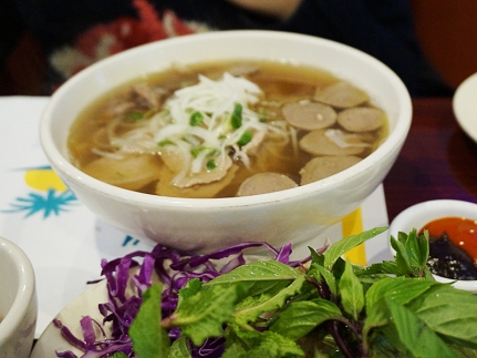 "Here is the ""Special Pho"", special because it has meatballs."
