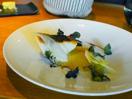 Hedone: Roasted Dorset seabass