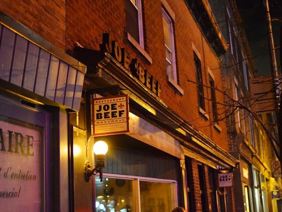 Joe Beef: Exterior