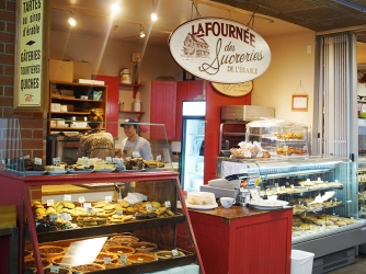 A very unwieldy name but a bakery from which we got a pretty good quiche.