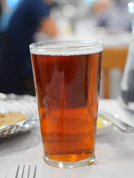 A pint of a local bitter.