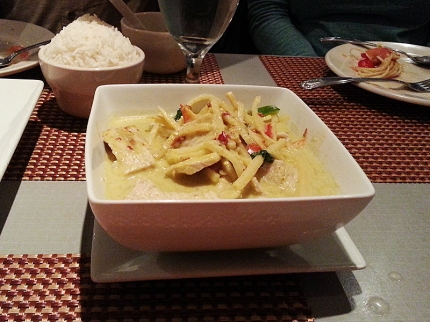And the green curry was not good at all. Too sweet and not very green curry.