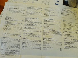 Dishoom: Menu