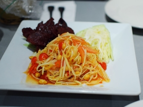 "There are two papaya salads on the menu. This is in the ""Chef Specials"" section and is quite good."