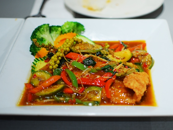 "However, there are two curries in the ""Chef Specials"" section that are much better. First up, this catfish curry without coconut milk. While the green curry had no Thai eggplant in it, this did..."