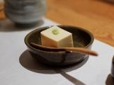 Mori: House-made tofu with seasoned soy sauce and wasabi