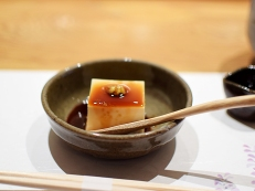 Mori: House-made tofu with seasoned soy sauce and wasabi