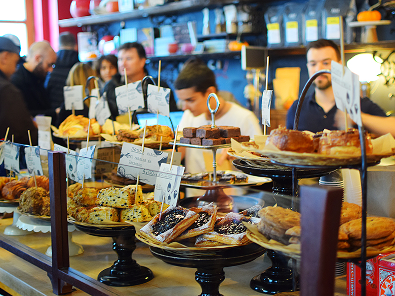 Pastry and coffee counter