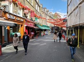 Lisle Street looking east.