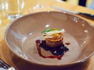 Piccolo: Veal tenderloin with tuna conserva and egg ravioli, swiss chard, and reggiano