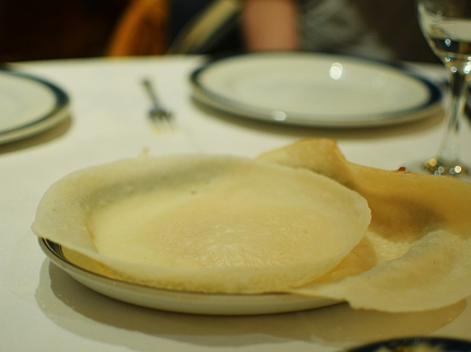 The appams were a disaster: thick, leaden and not very warm.