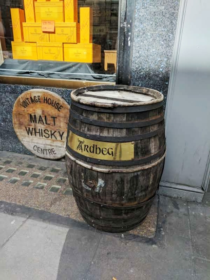 But there are other signs of the importance of whisky in the store.