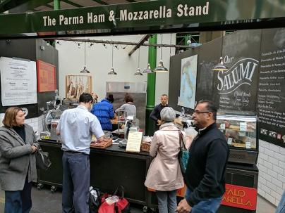 Borough Market: Ham and Mozzarrella