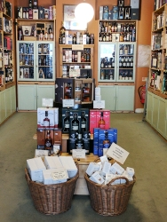 Looking into the shop (towards the bulk of the whisky section).