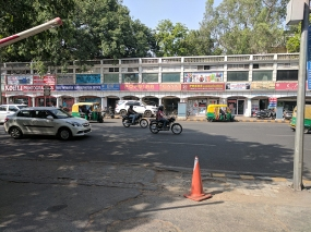 The view of the outer circle outside Sagar Ratna.