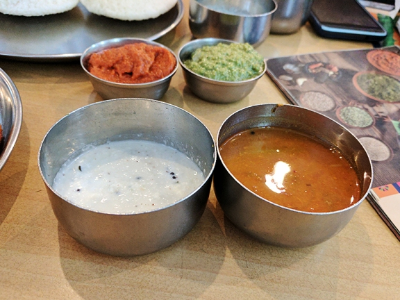 As were the coconut chutney and sambhar.