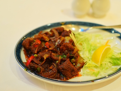 And this lamb chilly fy was very good, though not particularly spicy.