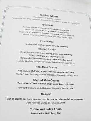 The Cinnamon Club: The tasting menu