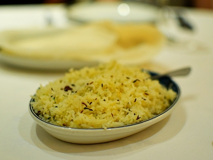 The zeera rice was quite nice. We also got some steamed rice but I've spared you the photograph.