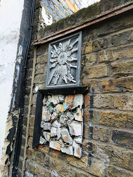 These caught my eye---not sure if they're street art per se.