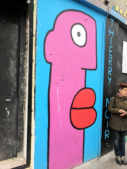 Thierry Noir is an iconic street artist.
