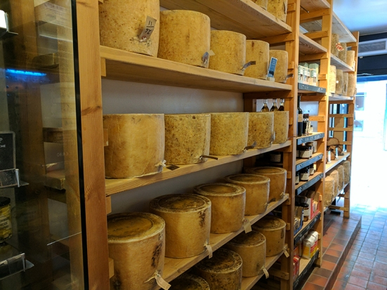 Neal's Yard Dairy, Covent Garden: Wheels of Cheese