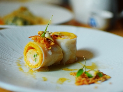 A. Wong: Crab, Seafood and Beancurd Canneloni