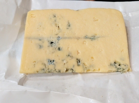 The third of the Ticklemore Dairy's blue cheeses, this one is from cow's milk. Not at the level of the Stichelton or the Colston Bassett Stilton but very, very good.