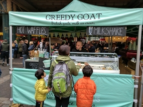 But if you want to eat something sweet at the market you could do worse than goat milk ice cream.