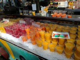 Grab some juice from across the way (the orange-mango is quite nice) and head out for things to take home for later.