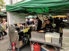 Various Asian street foods featuring garlic.