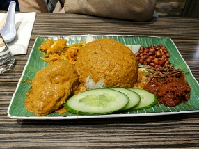 As is their nasi lemak.