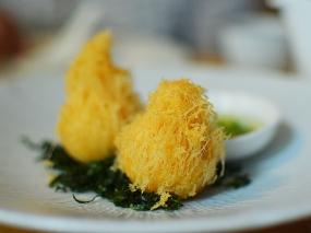A. Wong: Quail Egg Croquette Puff