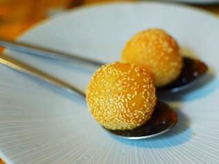A. Wong: Foie Gras Sticky Sesame Dumpling