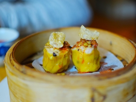 A. Wong: Pork and Prawn Dumpling, Pork Crackling