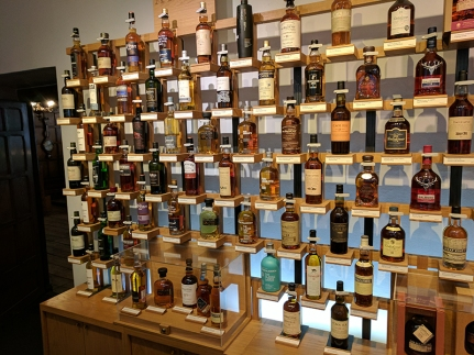 "The other is the ""Fine Spirits"" room. The whisky takes up two walls. Here's part of the first."