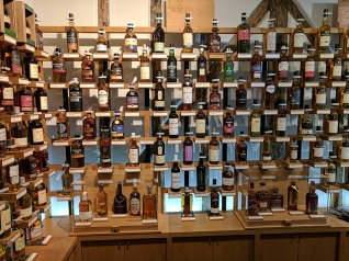 Most of the second wall of whisky.