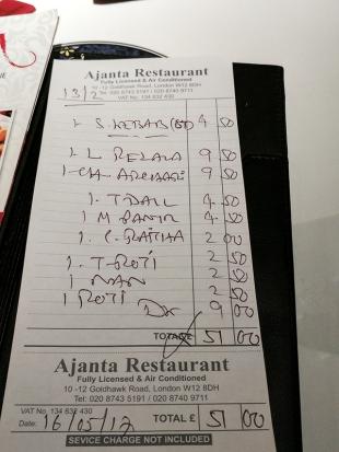 Ajanta: Bill